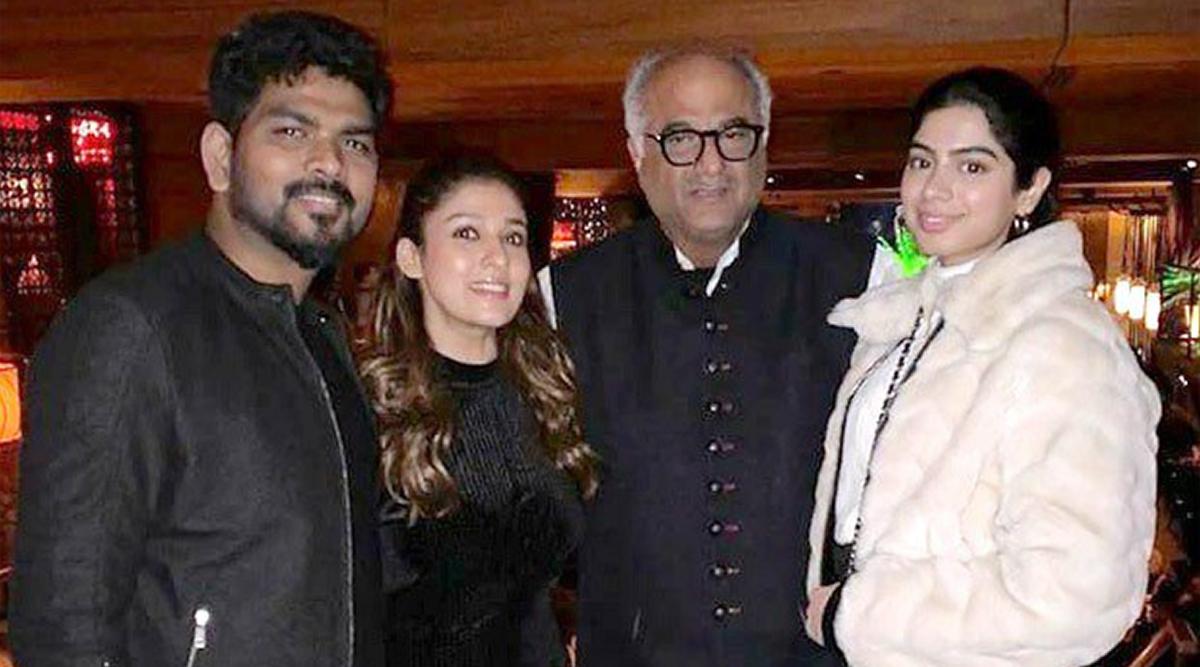 Nayanthara Poses With Vignesh Shivan, Boney Kapoor and Khushi in the US (View Pic)