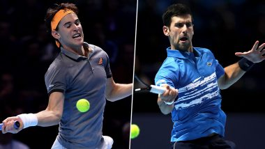 Novak Djokovic vs Dominic Thiem, ATP Finals 2019 Live Streaming & Match Time in IST: Get Telecast & Free Online Stream Details of Group Stage Match in India