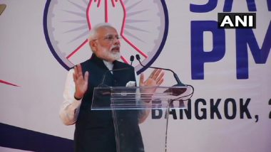 'Sawasdee PM Modi': Article 370 Repeal a 'Massive Blow Against Terrorism', Prime Minister Tells Indian Diaspora in Bangkok, Gets Standing Ovation