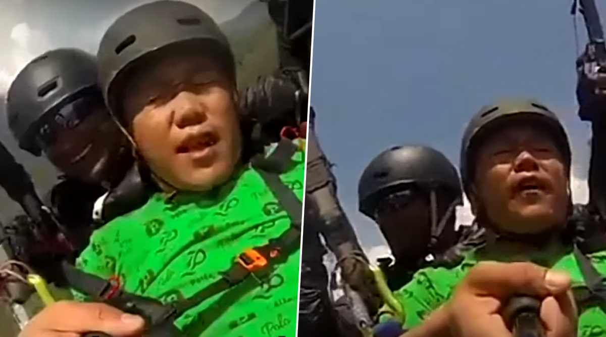 Land Kara De Bhai Part 2? Funny Clip of Man Scared While Paragliding in Himachal Pradesh Goes Viral, Tells Instructor 'Hawa Kam Karo'