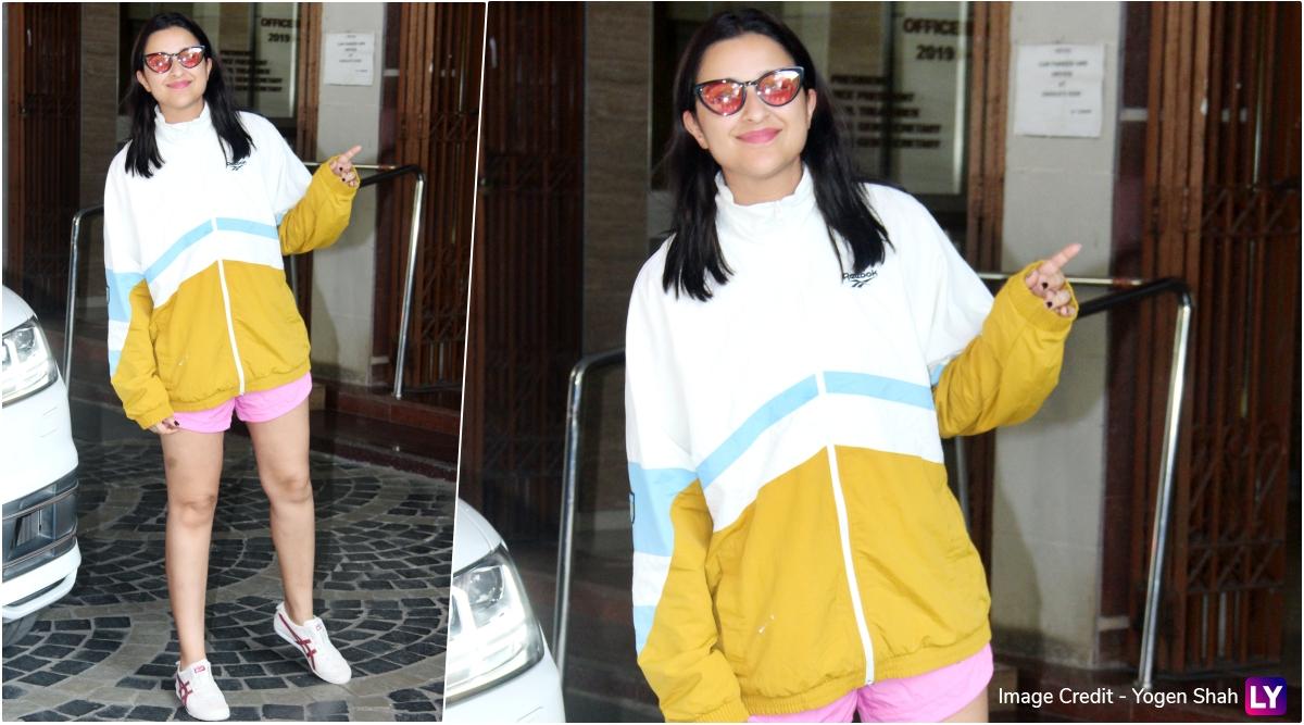 Parineeti Chopra in Gigi x Reebok jacket