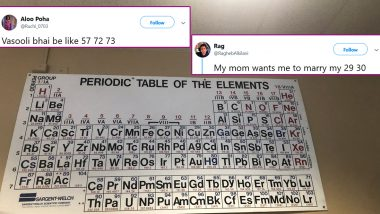 Periodic Table Trends in Meme Format! Netizens Use Atomic Numbers of Chemicals to Create Funny Memes And Jokes
