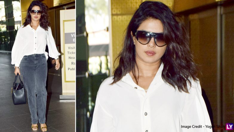 Priyanka Chopra's Black And White Airport Outfit Screams Fashion Meets Comfort (View Pics)