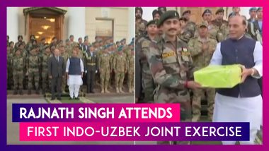 Rajnath Singh Attends First Indo-Uzbek Joint Exercise In Tashkent, Invites Them For 2020 Exercises