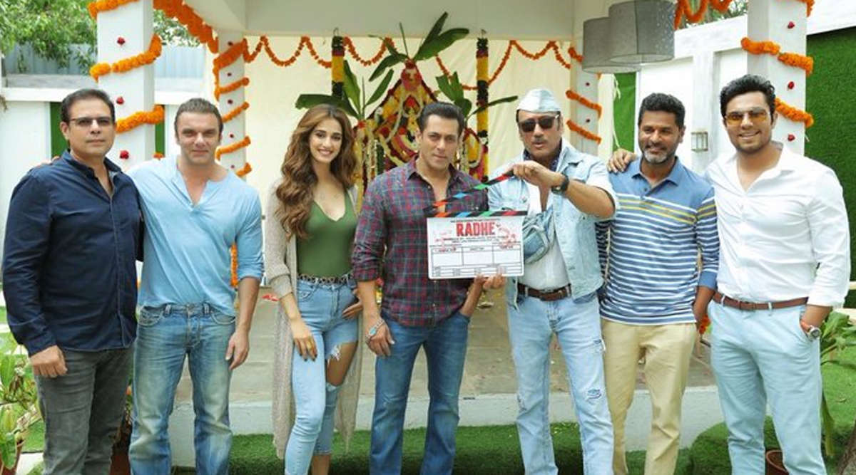 Radhe: Salman Khan to Romance Disha Patani in his Eid 2020 Release, Shares Picture from the First Day of Shoot