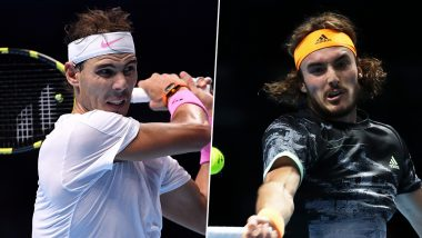 Rafael Nadal vs Stefanos Tsitsipas, ATP Finals 2019 Live Streaming & Match Time in IST: Get Telecast & Free Online Stream Details of Group Stage Match in India