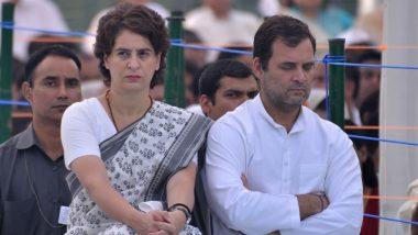 Raksha Bandhan 2020: Rahul Gandhi Extends Warm Greetings and Good Wishes, Shares Picture of Himself With Sister Priyanka Gandhi on Social Media
