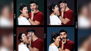 Rakul Preet and Arjun Kapoor Go Goofy As Their Upcoming Romantic Film Goes On Floors (View Pic)
