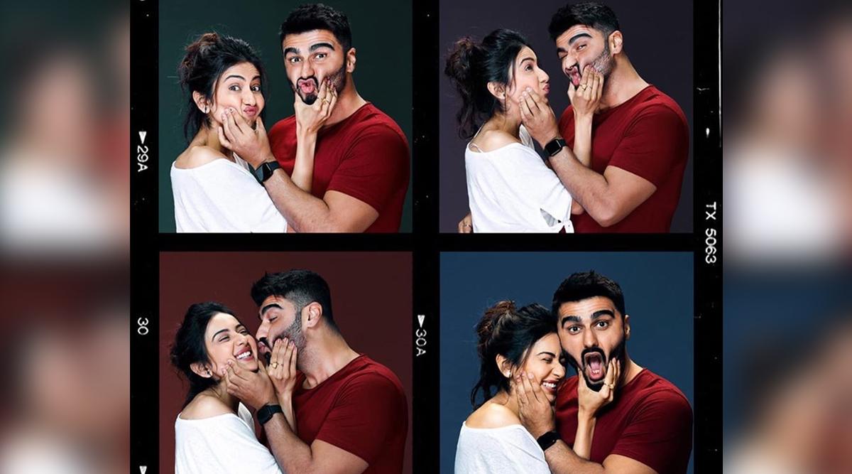 Rakul Preet and Arjun Kapoor Go Goofy As Their Upcoming Romantic Film Goes On Floors (View Pic)