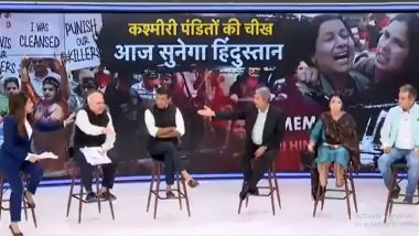 'Rape for Rape' Cries Ex-Army Officer SP Sinha on Live TV Debate Over Kashmiri Pandits Exodus, Netizens Slam News Channel as Video Goes Viral
