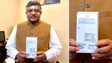 IT and Telecom Minister Ravi Shankar Prasad Displays Locally Assembled Apple iPhone XR on Twitter