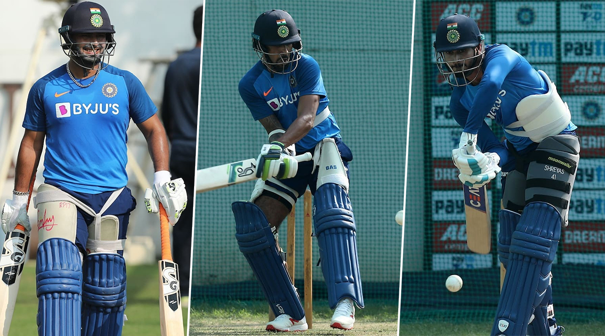 Rishabh Pant, Shikhar Dhawan and Other Indian Players Hitting the Net Session Hard Ahead of IND vs BAN 3rd T20I 2019 (View Pics)