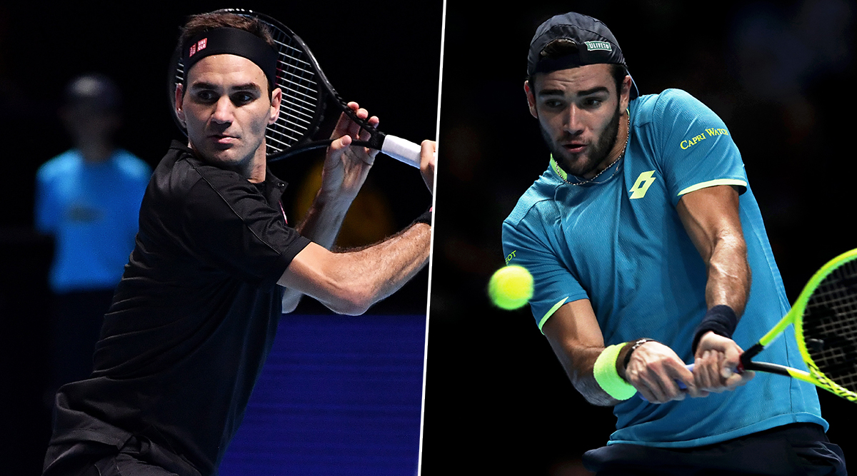 Roger Federer vs Matteo Berrettini, ATP Finals 2019 Live Streaming & Match Time in IST: Get Telecast & Free Online Stream Details of Group Stage Match in India
