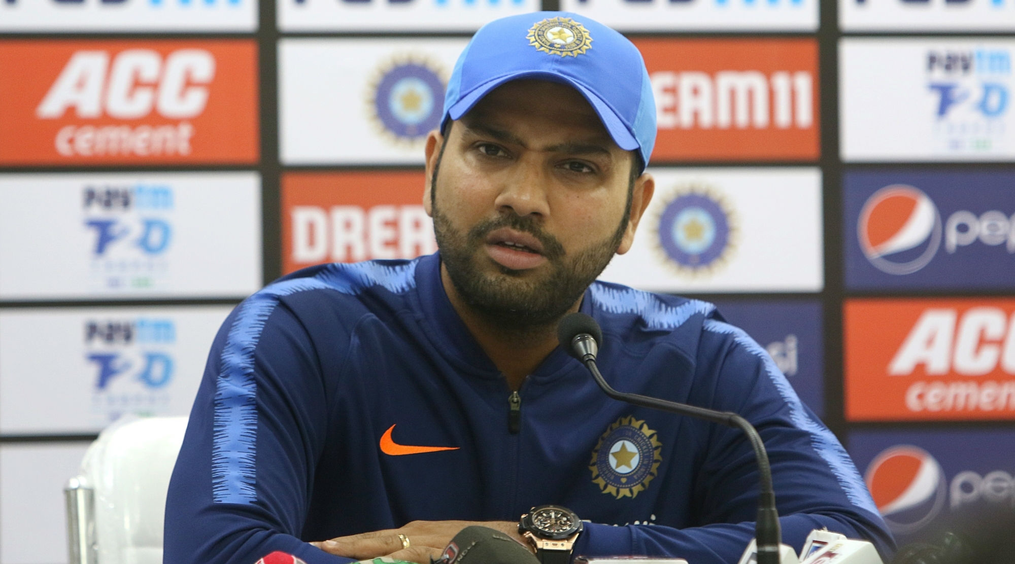 Rohit Sharma Reacts to Allegations of Violating BCCI's 'Family Clause' During 2019 Cricket World Cup, Slams Media for Dragging Cricketers' Wives