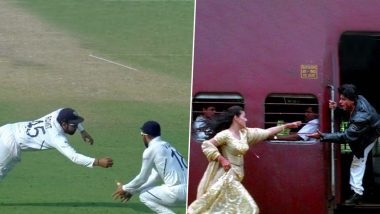 Rohit Sharma's Spectacular Catch to Dismiss Mominul Haque During IND vs BAN Day-Night Test Inspires Funny Memes on Twitter