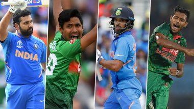 India vs Bangladesh 1st T20I 2019: Rohit Sharma vs Mustafizur Rahman, Shikhar Dhawan vs Shafiul Islam & Other Mini Battles to Watch Out for in Delhi