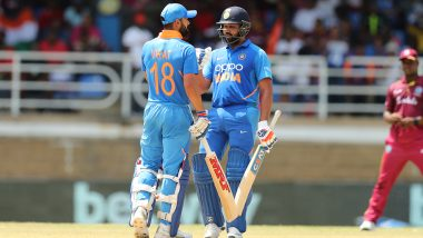 Rohit Sharma on the Verge of Surpassing Virat Kohli As Leading Run-Scorer in T20I Cricket During India vs Bangladesh 1st T20I Match