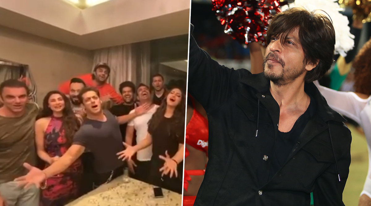 Salman Khan Wishes Shah Rukh Khan on Birthday with Jacqueline Fernandez and Sonakshi Sinha; Complains That SRK Did Not Pick Up His Call (Watch Video)