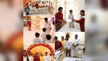 Sachin Tendulkar Meets 'Sanjeevani Warriors' at Children's Hospital in Navi Mumbai, Praises Centre's 'Noble Cause' (See Pictures)