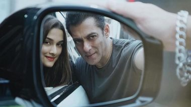 Salman Khan and Saiee Manjrekar's Latest Picture Through Side-View Mirror Has 'Perfect Chemistry' Written All Over It!