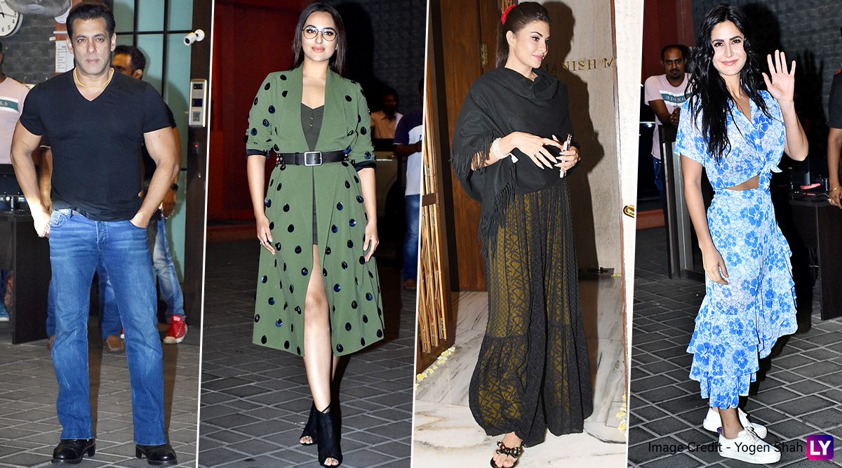 Salman Khan, Katrina Kaif and Others Clicked at Arpita Khan-Aayush Sharma's 5th Wedding Anniversary Bash (View Pics)