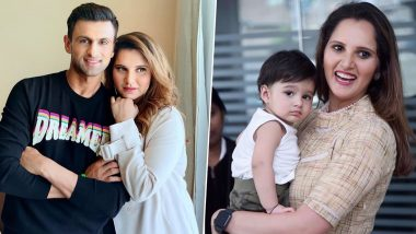 Happy Birthday Sania Mirza: Family Photos of Indian Tennis Star With Son Izhaan and Husband Shoaib Malik Are So Adorable