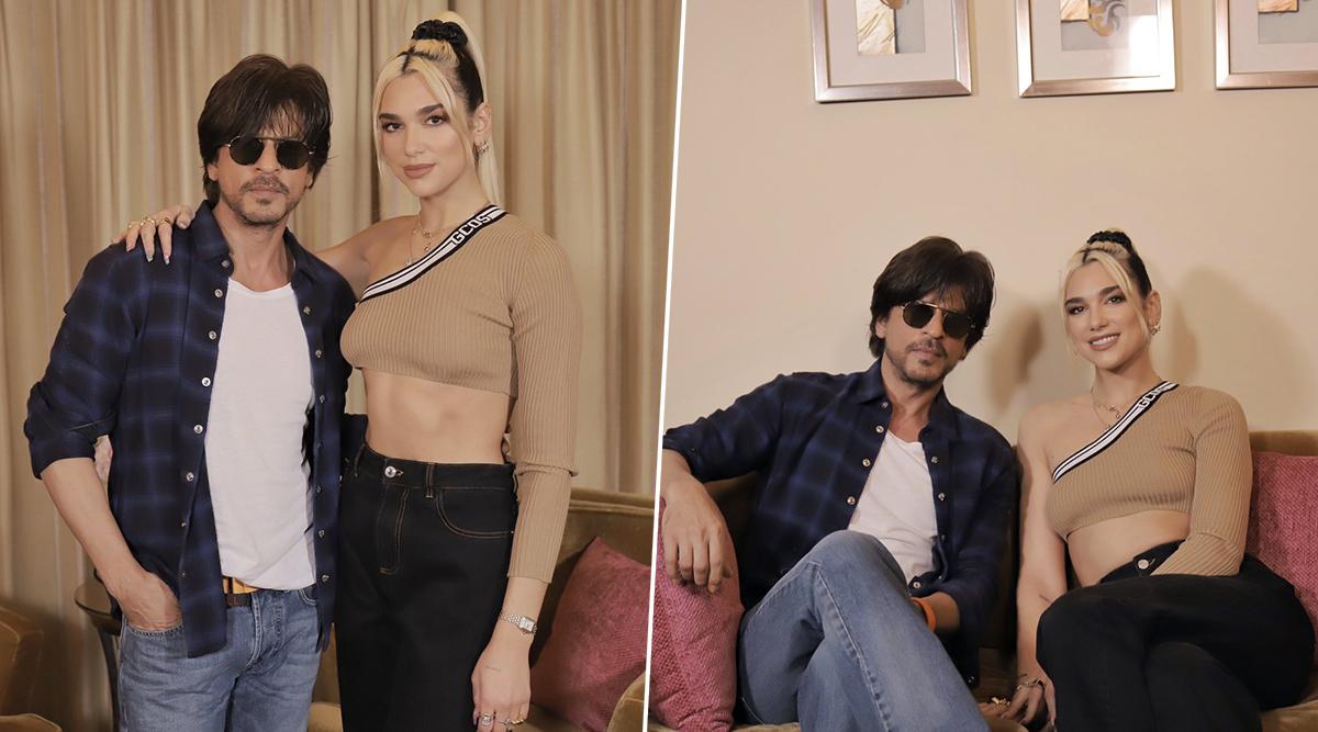 Shah Rukh Khan Teaches British Singer Dua Lipa Some Bollywood Dance Steps and We Wonder Whether It is Chhaiyya Chhaiyya! (View Pics)