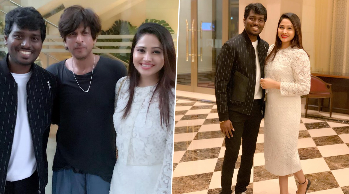 Shah Rukh Khan's Birthday Bash Sees Filmmaker Atlee and His Wife, Is This a Confirmation That the Actor-Director Are Indeed Collaborating? (See Pics)