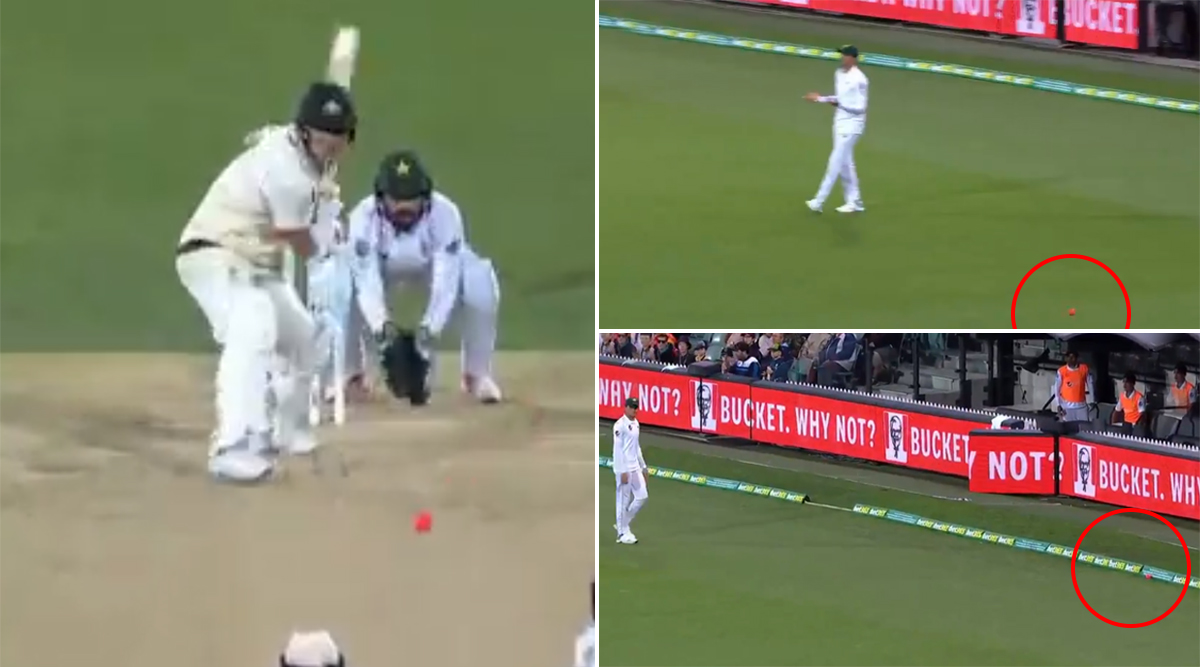 Funny Fielding! Shaheen Afridi Becomes Victim of Trolls After Misjudging Pink Ball During Australia vs Pakistan 2nd Test 2019 (Watch Video)