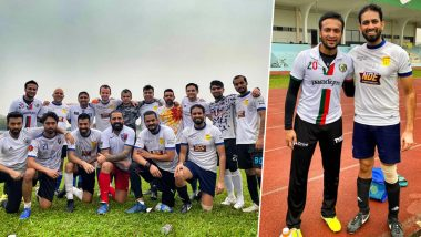 Shakib Al Hasan Turns Footballer After Getting Two Years Ban From ICC; View Pictures of Bangladesh Cricket Team All-Rounder in Football Avatar