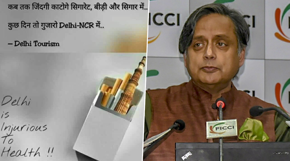 Shashi Tharoor Takes a Dig on Delhi Air Quality, Shares Picture Calling the National Capital 'Injurious to Health'