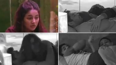 Bigg Boss 13: Sidharth Shukla Pulls Shehnaaz Gill on Bed and The Two Snuggle Cosily (Watch Video)