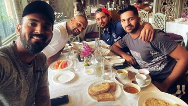 Shikhar Dhawan, KL Rahul, Manish Pandey and Shardul Thakur Enjoy Breakfast Together Ahead of India vs Bangladesh 1st T20I 2019 (See Photo)