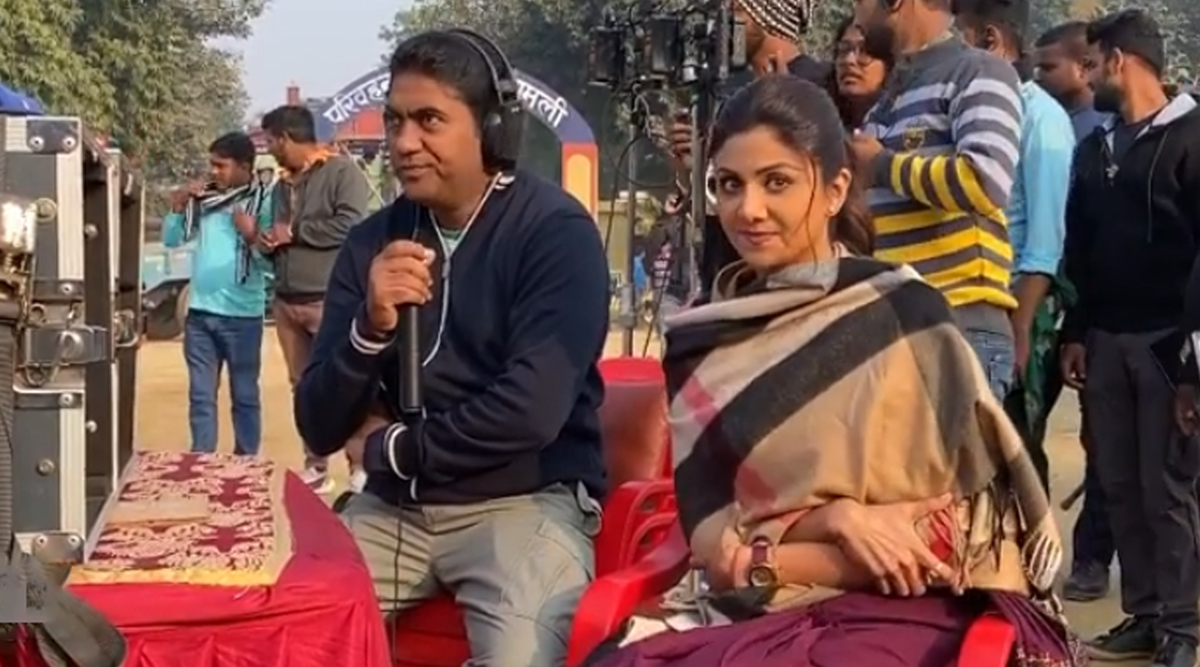 Nikamma: Shilpa Shetty and the Director Share Some 'Cold Vibes' on the Sets (Watch Video)