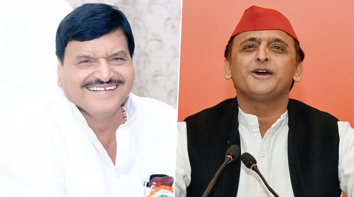 Uttar Pradesh Assembly Elections 2022: Shivpal Yadav Endorses Akhilesh Yadav as CM Candidate, Samajwadi Party Chief Responds With Silence