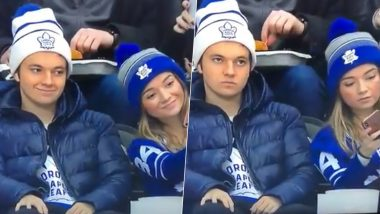 Siblings Taking a Selfie During Ice Hockey Match Between Toronto Maple Leafs & Pittsburgh Penguins Go Viral, Thanks to The Brother's Expressions (Watch Video)