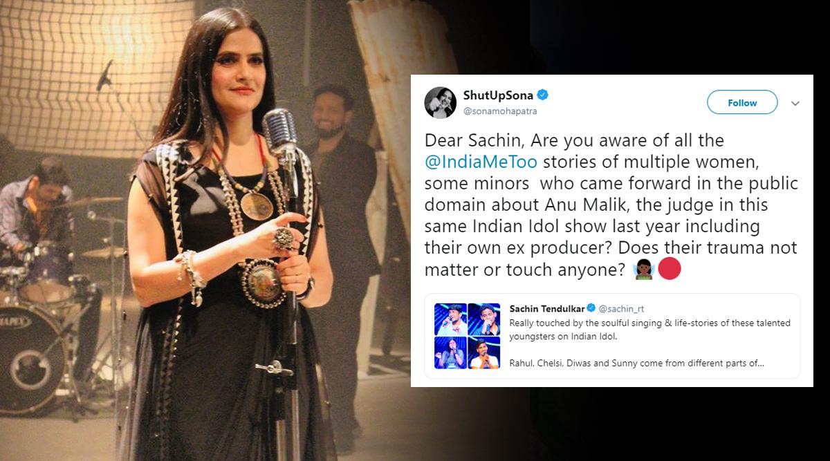 Sona Mohapatra Questions Sachin Tendulkar for Supporting #MeToo Accused Anu Malik's Reality Show Indian Idol 11