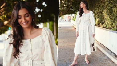 The Price of Sonam Kapoor's White Midi Dress Can Fund Your Luxurious Trip to Bangkok (View Pics)
