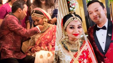 Malayalam Actor Jagathy Sreekumar's Daughter Sreelakshmi Ties the Knot with Jijin Jahangir (View Wedding Pics)