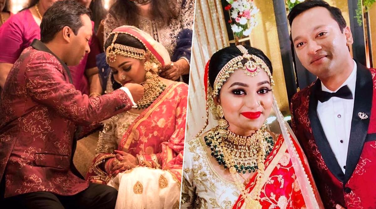 Malayalam Actor Jagathy Sreekumar's Daughter Sreelakshmi Ties the Knot with Jijin Jahangir (View Wedding Pics)