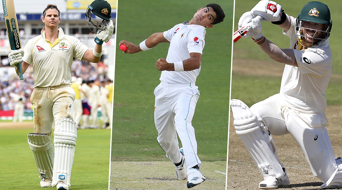 Image result for aus vs pak 1st test pakistan 16 years old fast bowler naseem shah