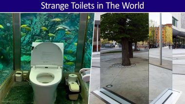 World Toilet Day 2019: From Aquarium to See-Through Mirrors, 5 Most Unusual Urinals Around the World!