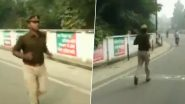 UP: Upset Over Transfer by Senior, Sub Inspector Begins 60-Km Run Towards Police Station Where He is Transferred, Faints Midway - Watch Video