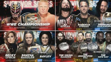WWE Survivor Series 2019 Nov 24, 2019 Live Streaming, Preview & Match Card: Brock Lesnar vs Rey Mysterio, Becky Lynch vs Bayley vs Shayna Baszler & Other Matches to Watch Out For