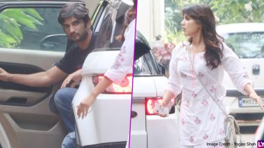Sushant Singh Rajput and His Rumoured Girlfriend Rhea Chakraborty Arrive Together at a Friend's Place (View Pics)