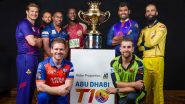 Abu Dhabi T10 League 2019 Points Table Updated: Bangla Tigers Lead Team Standing in Group A, Qalandars on Top Spot in Group B