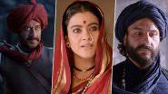 Tanhaji The Unsung Warrior Trailer: Ajay Devgn, Kajol And Saif Ali Khan's Epic War Saga Is Superhit Says Fans (Read Tweets)