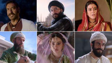 Tanhaji the Unsung Warrior Trailer: Ajay Devgn and Saif Ali Khan Take You on an Epic War Which Glorifies Marathas (Watch Video)
