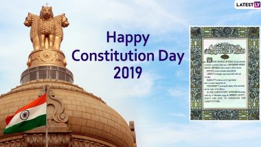 Constitution Day 2019 Quotes & Samvidhan Divas Images: Celebrate 70th Constitution Day With Memorable Sayings and Thoughts