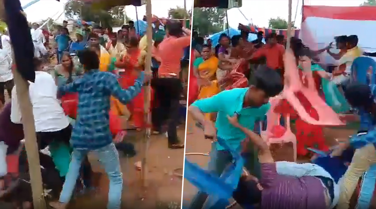 Telangana: Wedding Guests Thrash Each Other With Chairs After Argument Over DJ Turns Serious (Shocking Video Goes Viral)